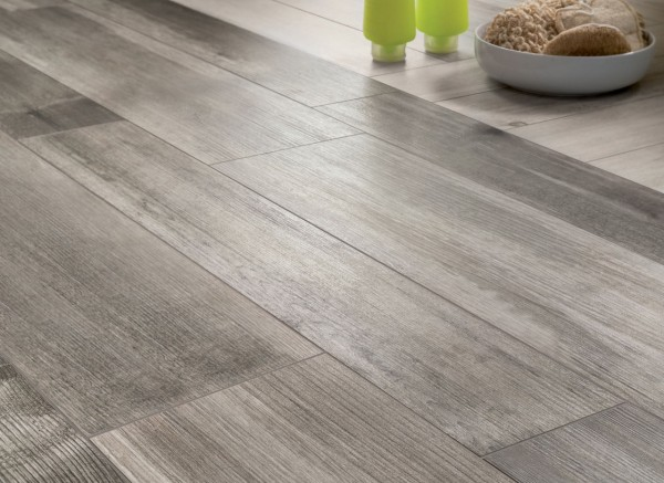 medium grey wooden floor tiles closeup