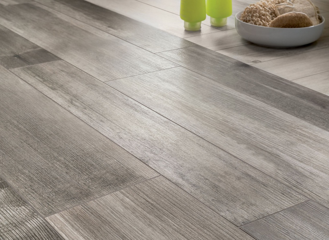 Medium Grey Wooden Floor Tiles