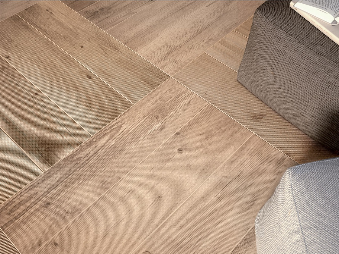 Wood look tiles for Hardwood floor panels