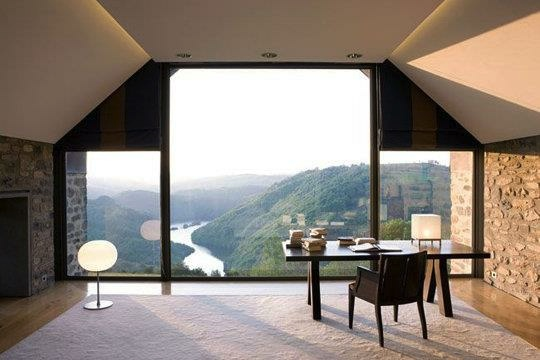 workspace annex with moutain and river views