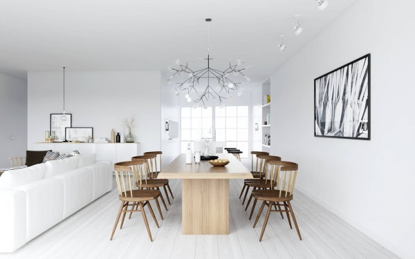 ATDesign- Nordic style dining in monochrome and wood