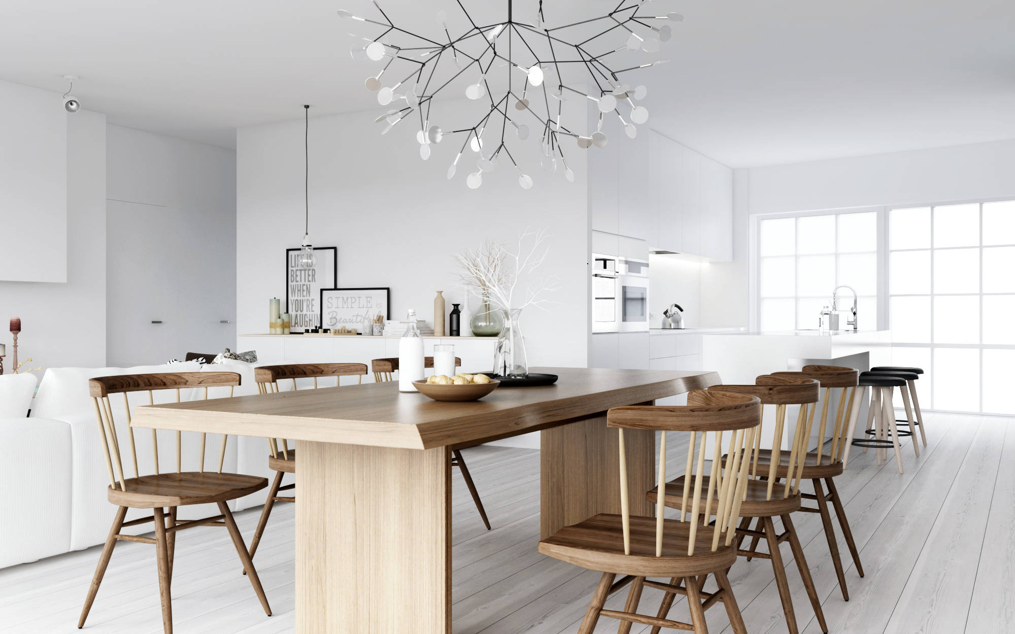Nordic interior design for Interior design dining table