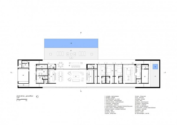 Marcio Kogan's Casa Lee Concrete House- plans