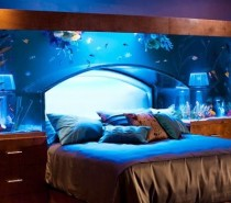 However, if an underwater vacation is just not enough, perhaps this aquarium bed head will satiate any underwater fantasies.