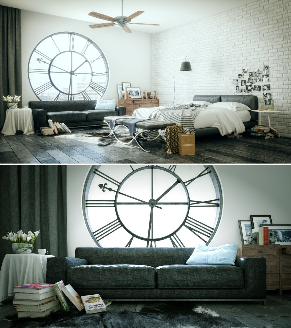 Bedroom Wall Clock Design : Extraordinary bedrooms