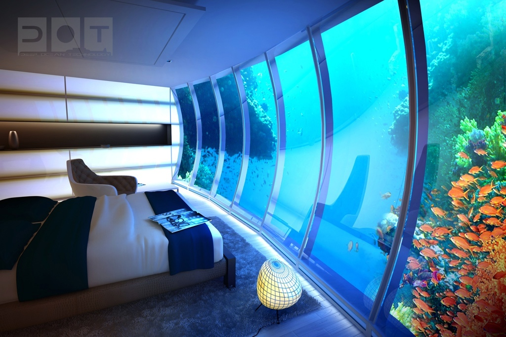 Ultra Modern Bedroom Under Water Design - Paint Colors Ideas For ...