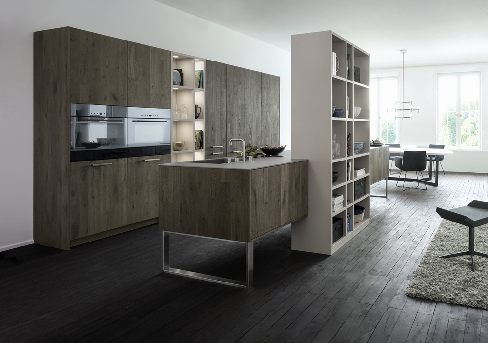 Kitchen cabinetry in a new light - Grey wood floors modern interior design ...