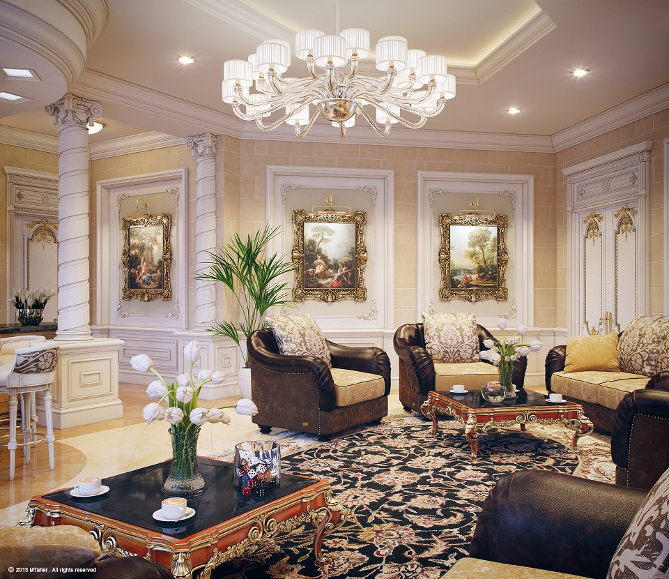 Luxury villa in qatar visualized Luxur home interior