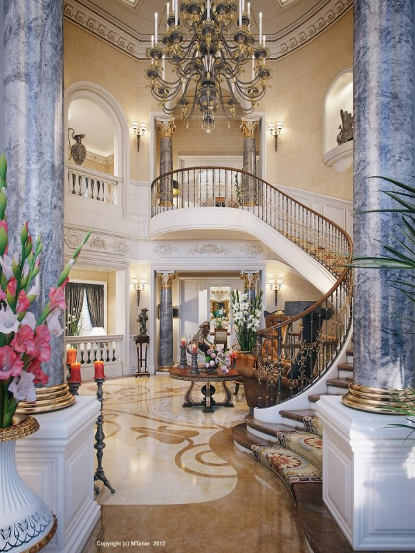 luxury villa staircase