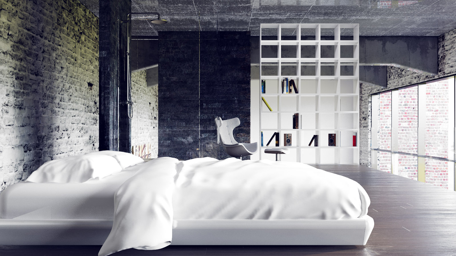 Two beautiful urban lofts visualized for Best looking bedrooms