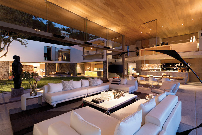 Modern beach house living room