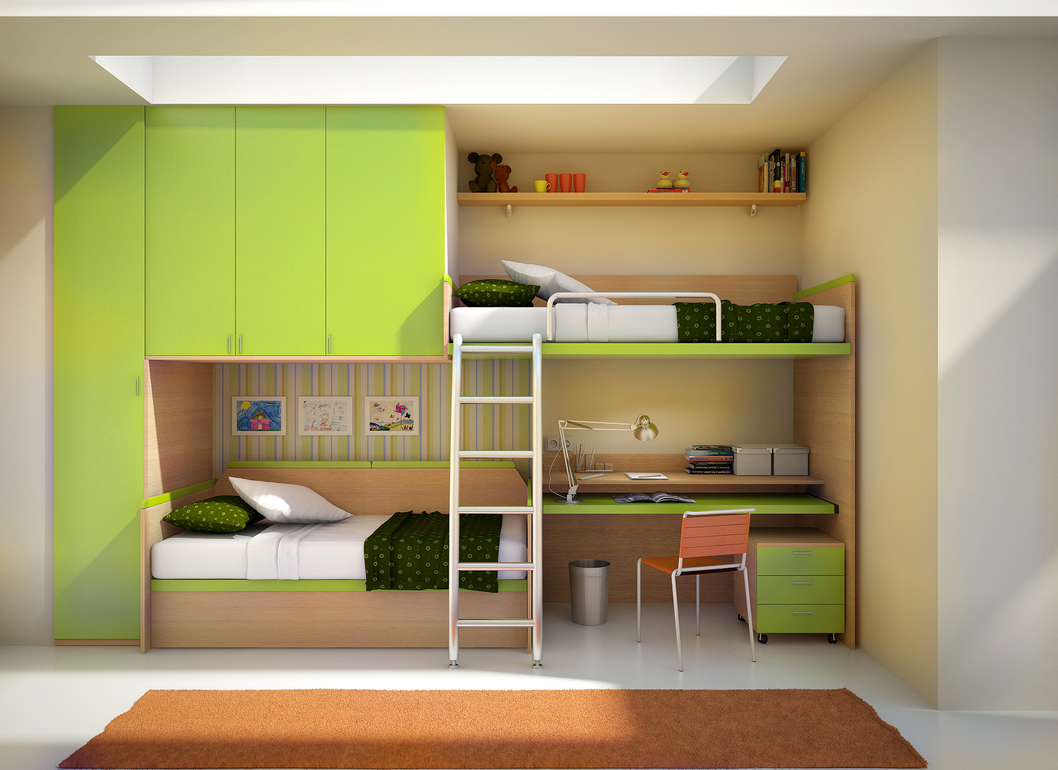 12 Kids Bedrooms with Cool Built-