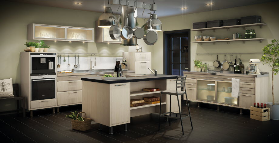 Kitchens by marbodal - Cocina con isla central ...
