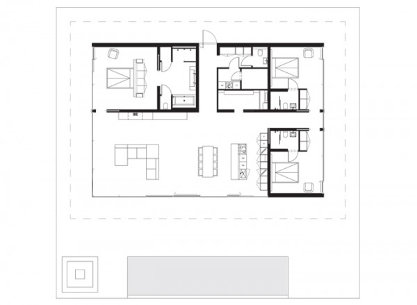 Modern Lake House x Floor Plan 1