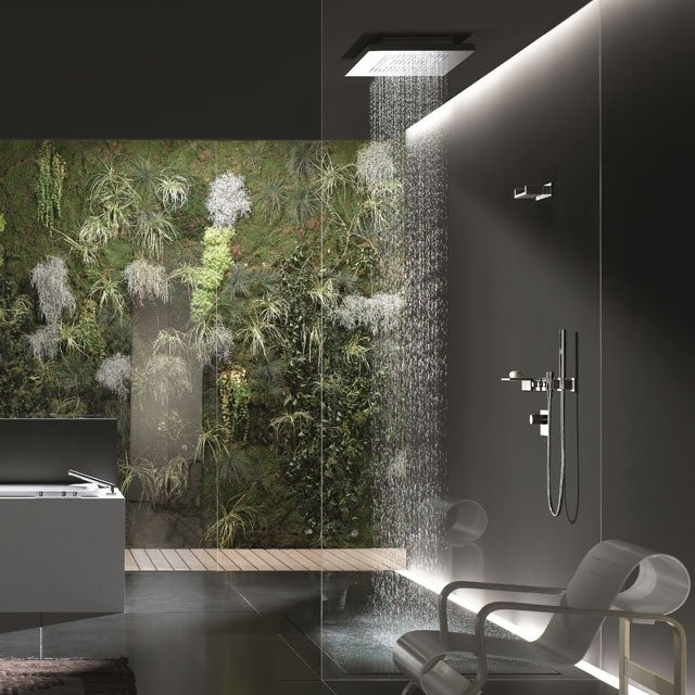 Bath fittings accessories from dornbracht for Bathroom designs natural