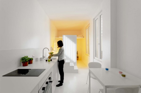This view shows just how tiny the overall living space is at a mere 65 sq feet (20 sq meters).