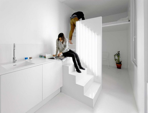 Modern Paris Apartment Stairway 1