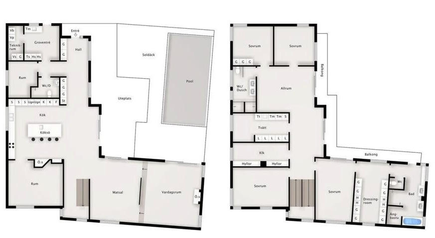 Modern Swedish Villa Z Floor Plan 1 Interior Design Ideas