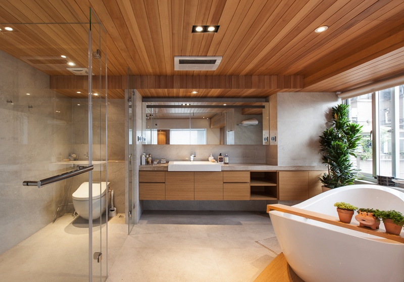 Natural Modern Decor Bathroom - Taiwanese interior design
