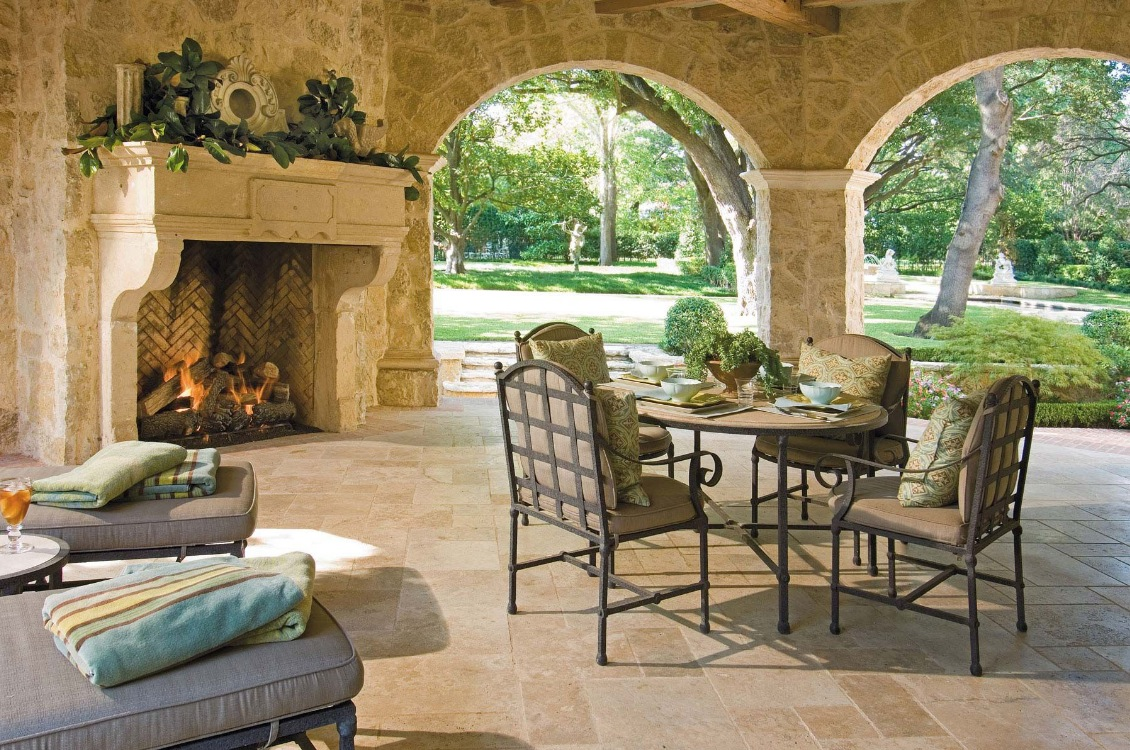 Outdoor living spaces by harold leidner for Exterior house design for small spaces