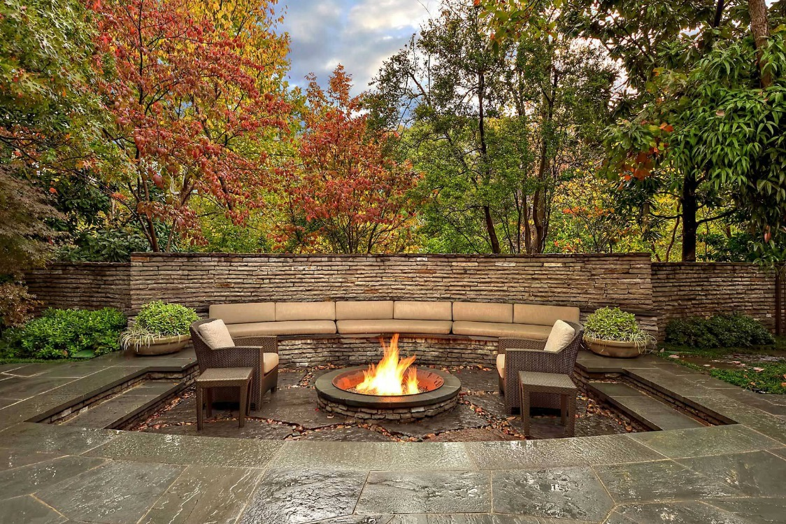 Outdoor living spaces by harold leidner for Fire pit ideas outdoor living