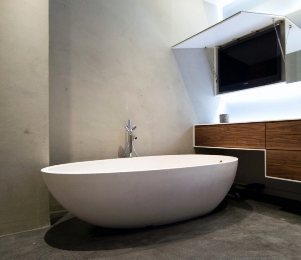 modern bachelor apartment master bath 1