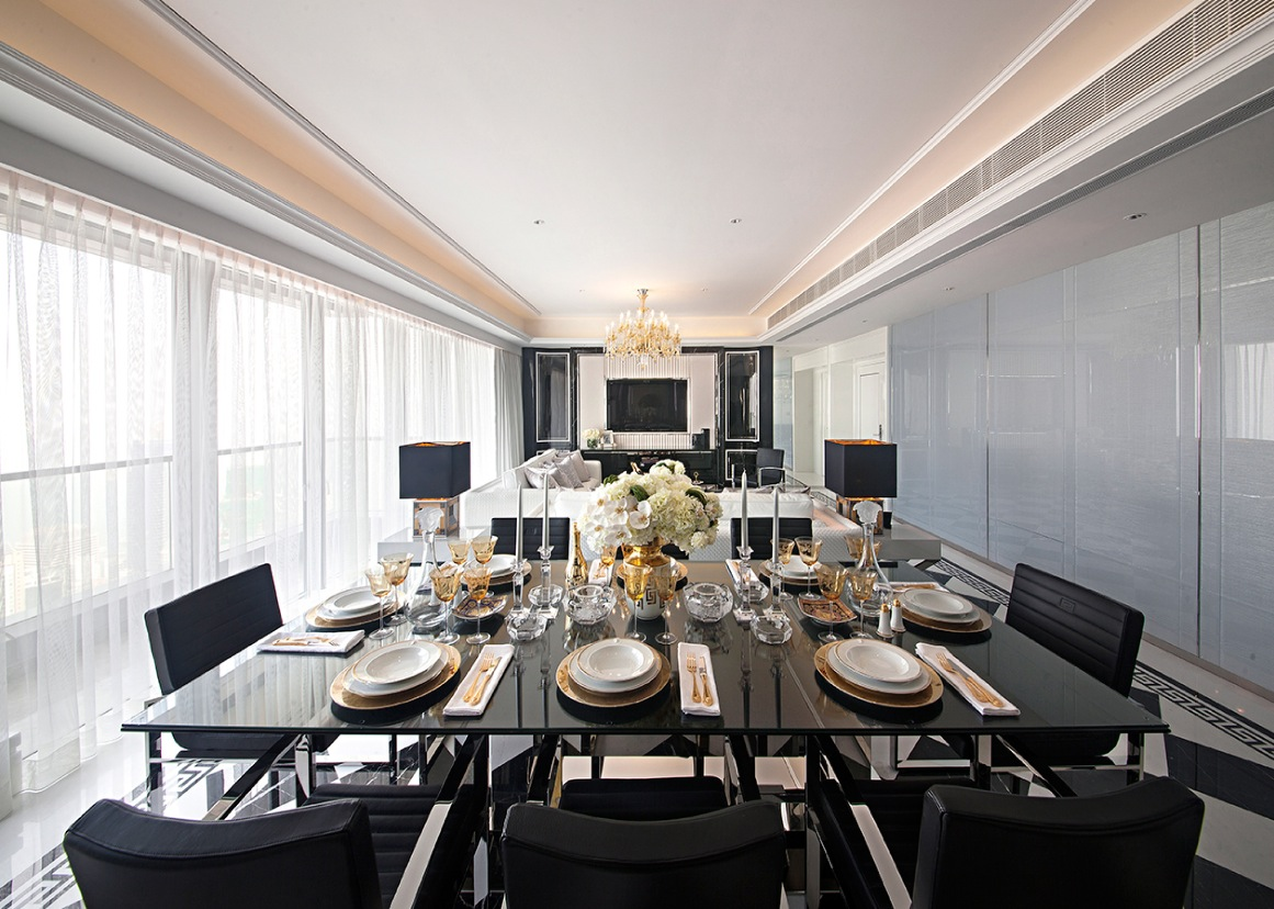 Synergistic modern spaces by steve leung for Contemporary dining room pictures