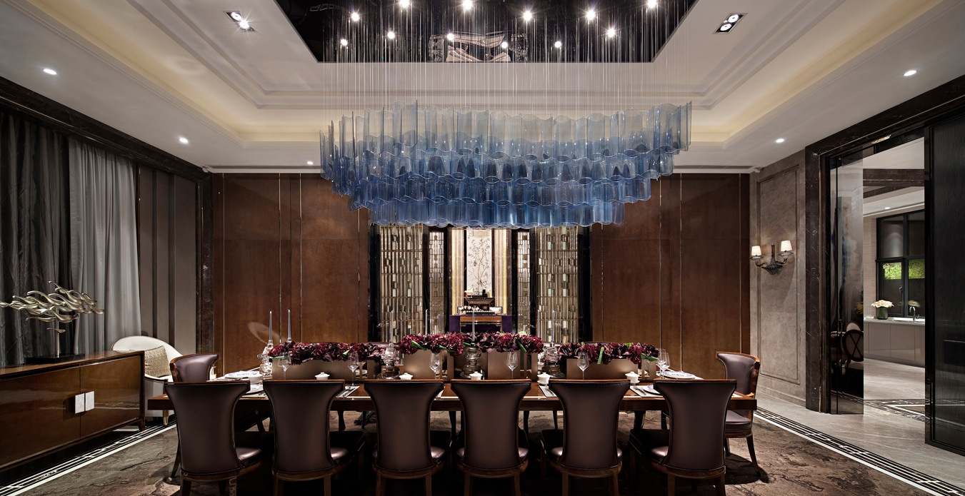 Synergistic modern spaces by steve leung for Luxury dining room design