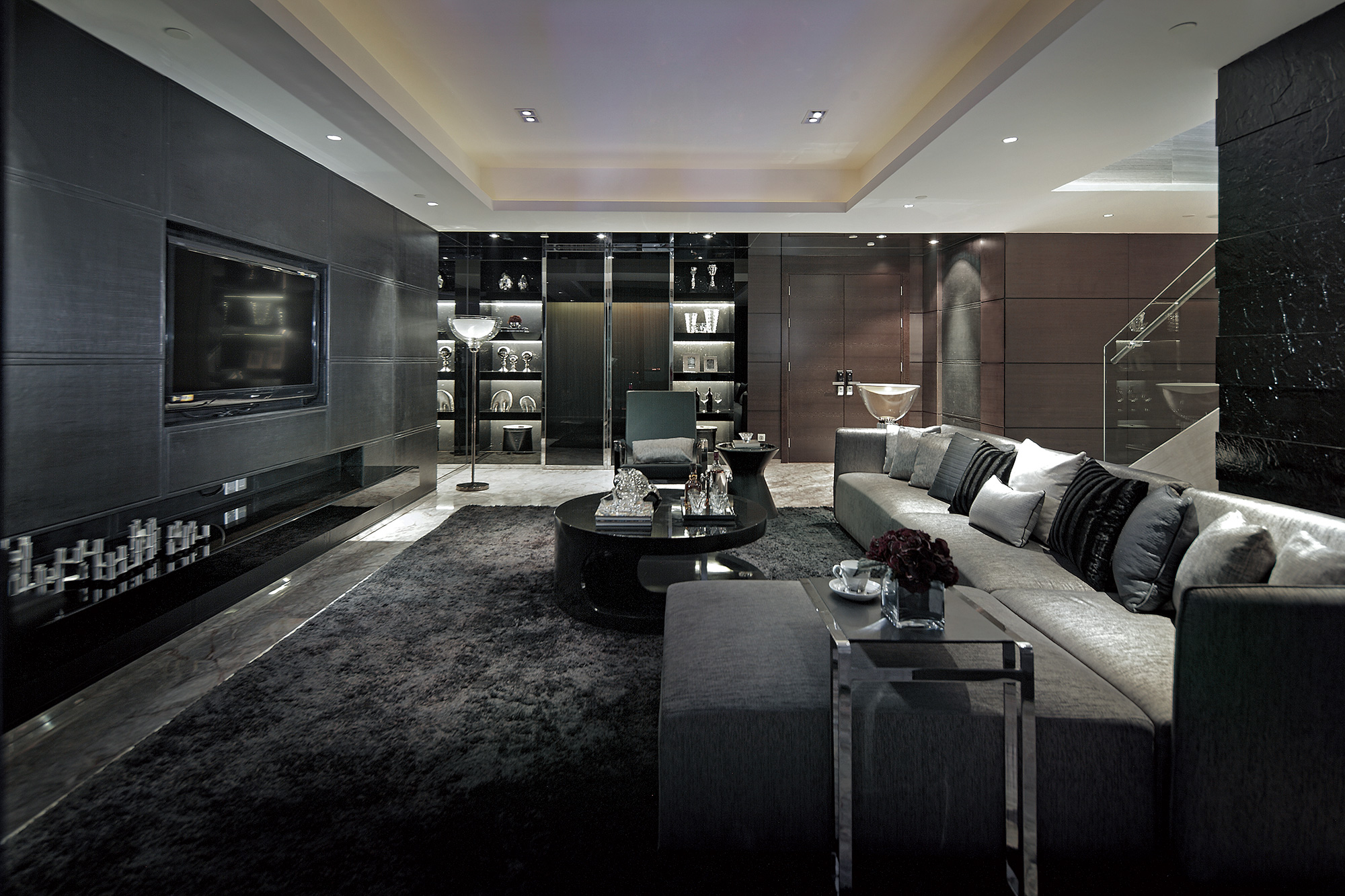 Synergistic modern spaces by steve leung for Living area interior