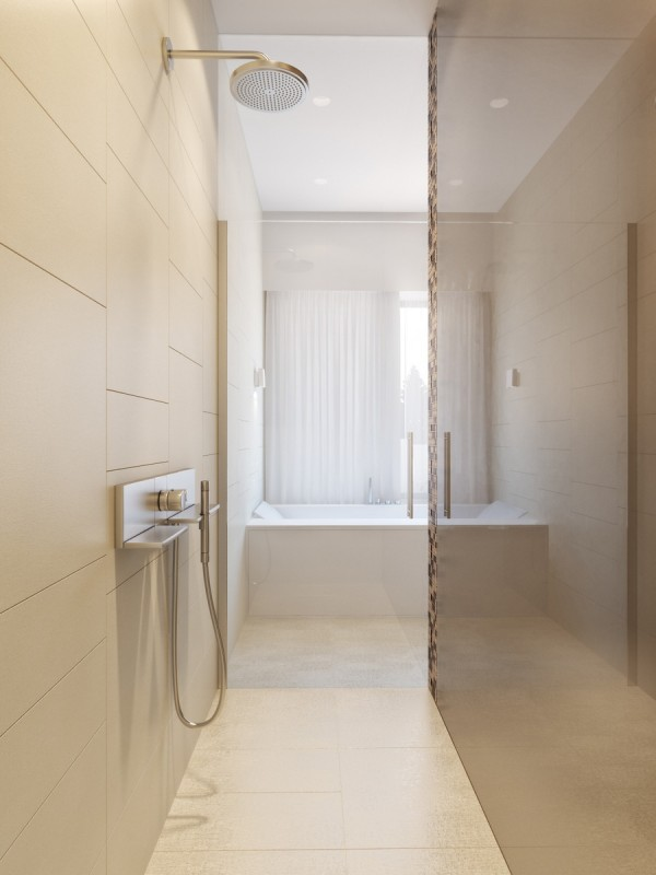 modern neutral master bathroom 5