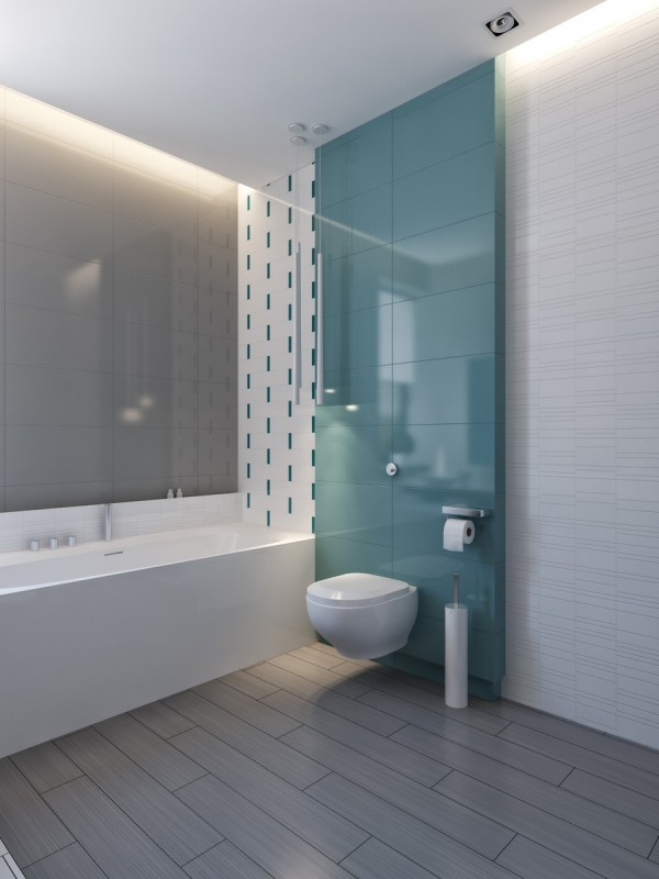 modern vibrant blue bathroom 4