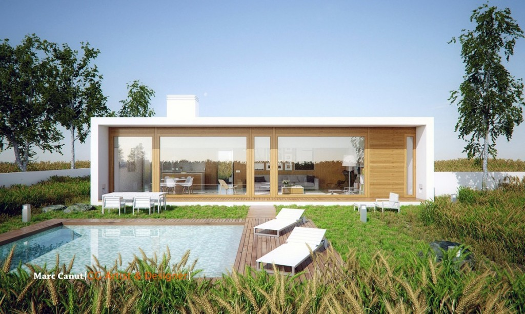 A fresh take on the guest house by marc canut visualized for Home plans with guest house