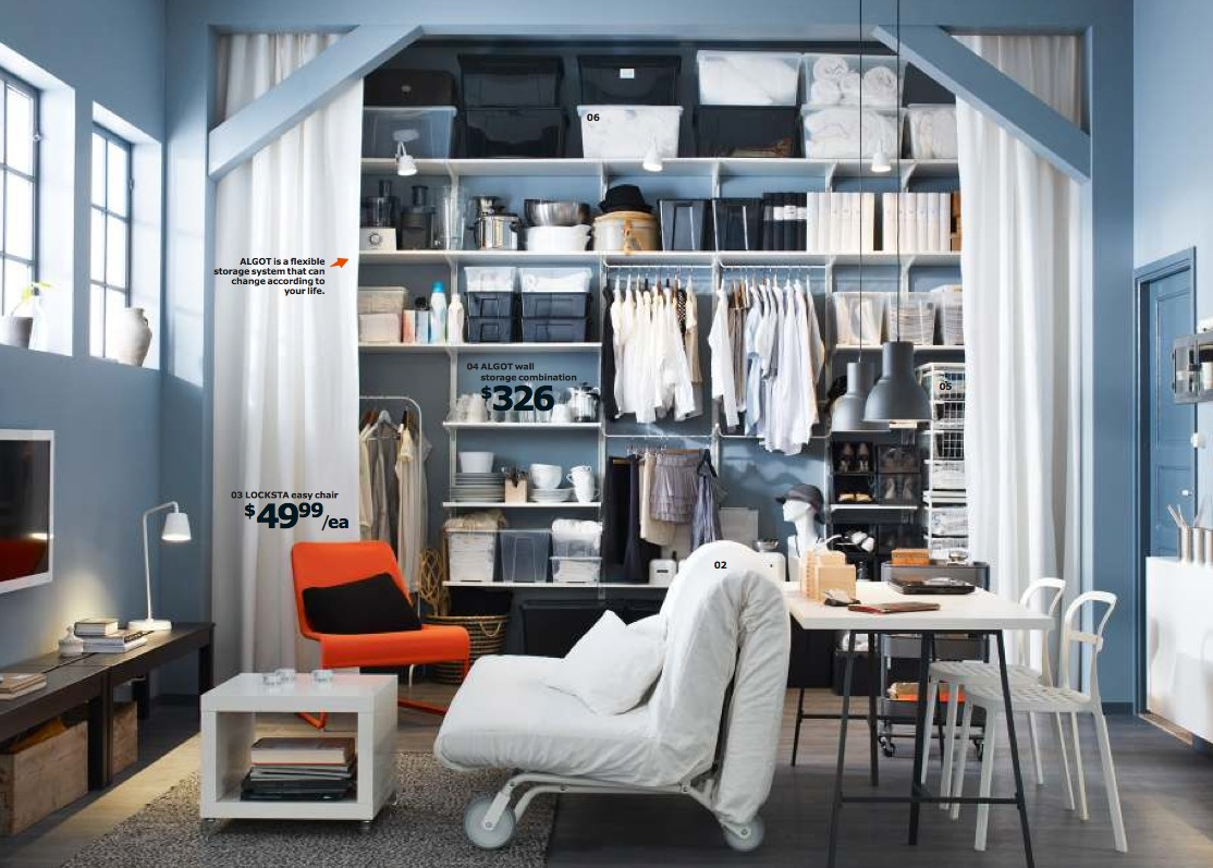 Ikea 2014 catalog full for Studio apartment storage ideas