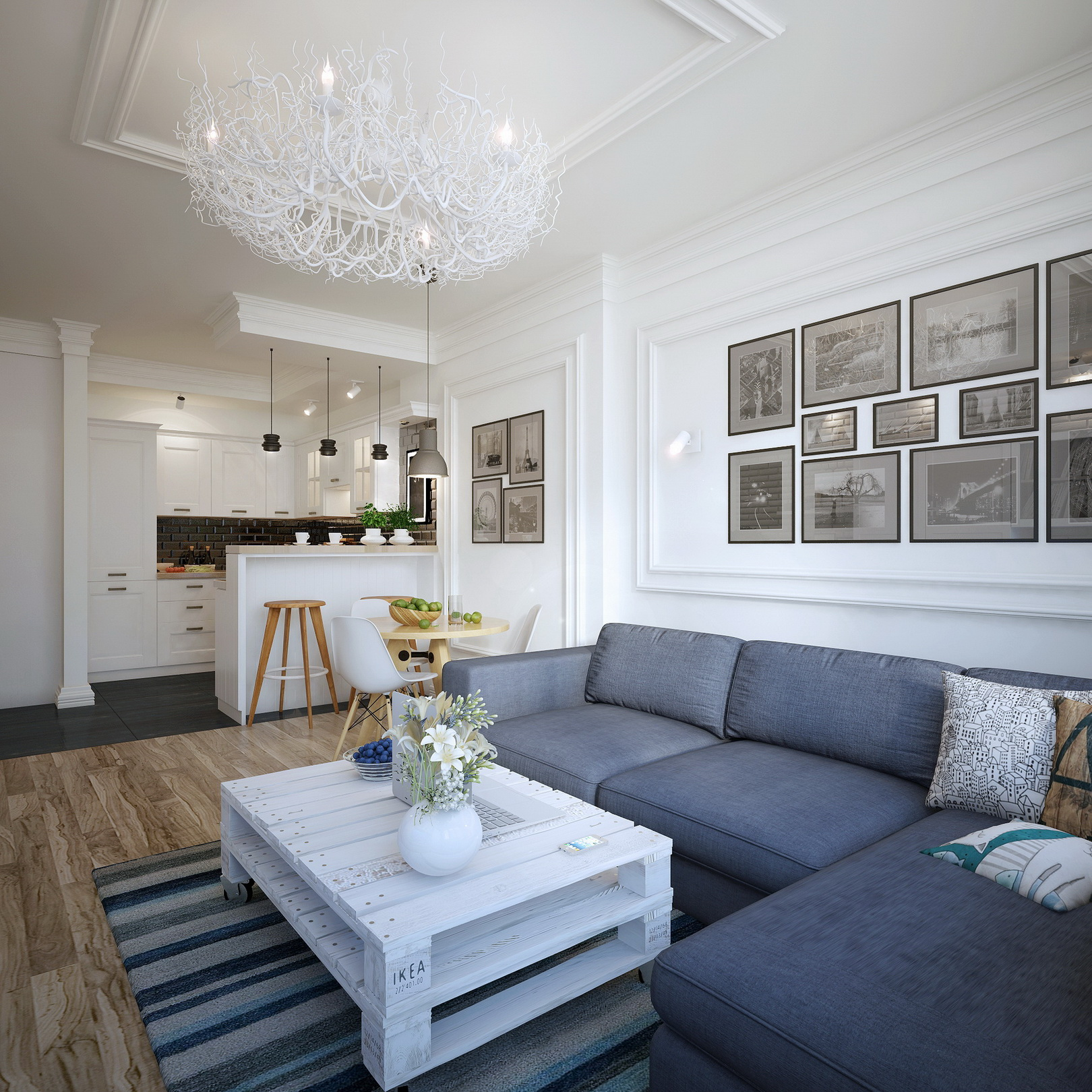 Visualizations Of Modern Apartments That Inspire: Apartment In Ukraine [Visualized]