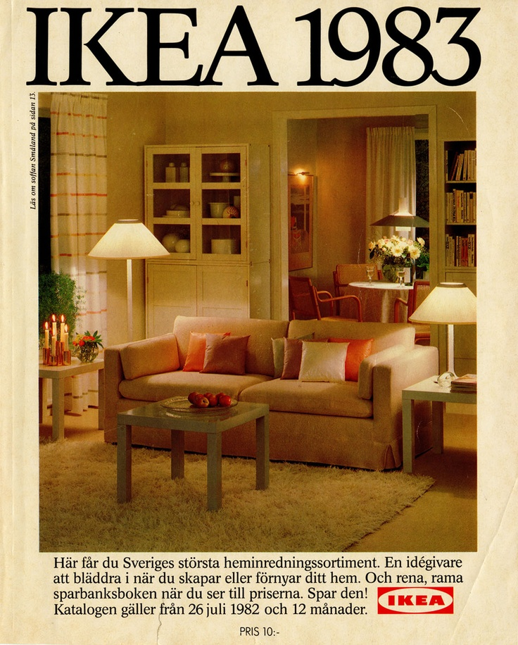 Ikea 1983 catalog interior design ideas for Home decor 1990s