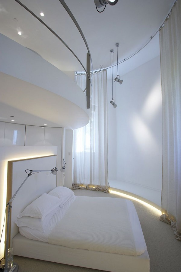 Minimalist Tower Home Master Bedroom 2