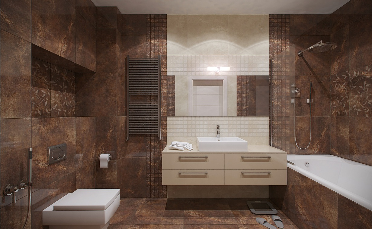 Russian Apartment Master Bathroom 2  Interior Design Ideas.