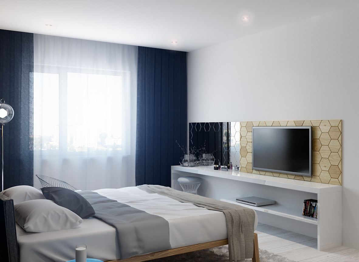 Bedroom television interior design ideas for Bedroom ideas tv