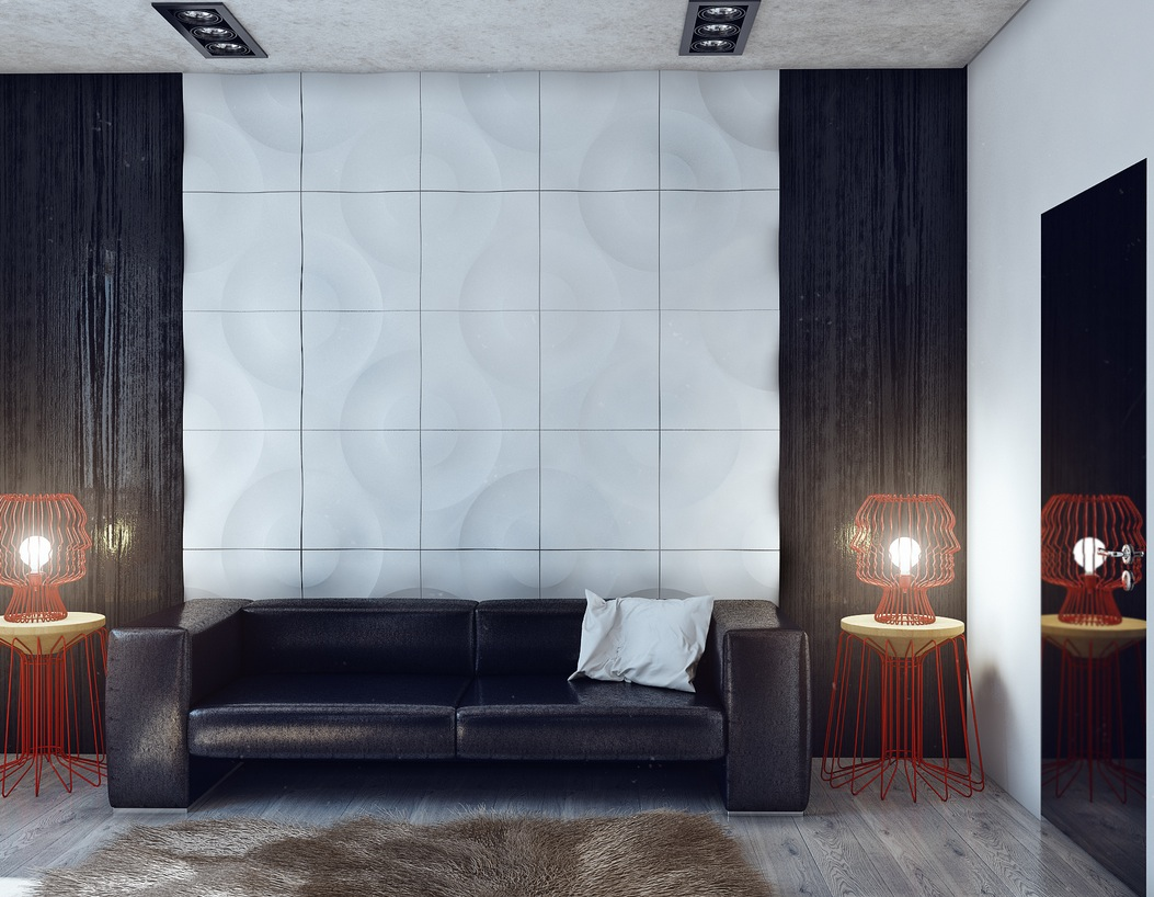 Black and white wall texture interior design ideas for White walls interior design ideas