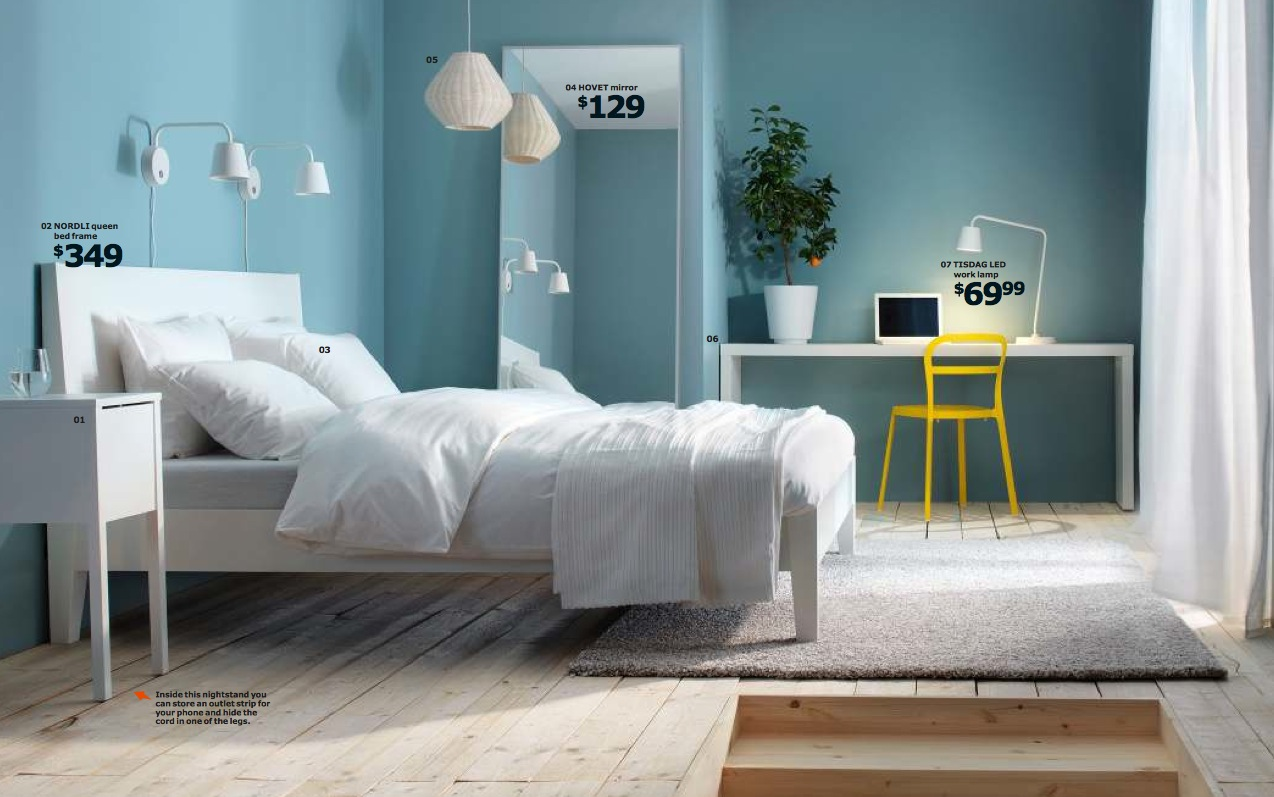 Ikea 2014 catalog full for Interior design bedroom blue white