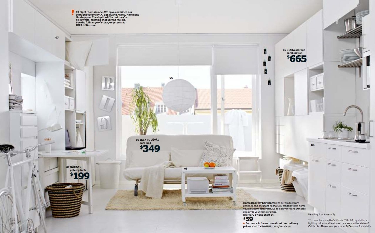 Ikea small space living interior design ideas Design house catalog