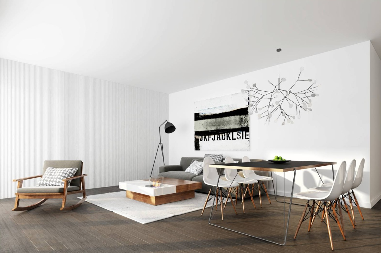 Minimalist living interior design ideas for Minimalist living space