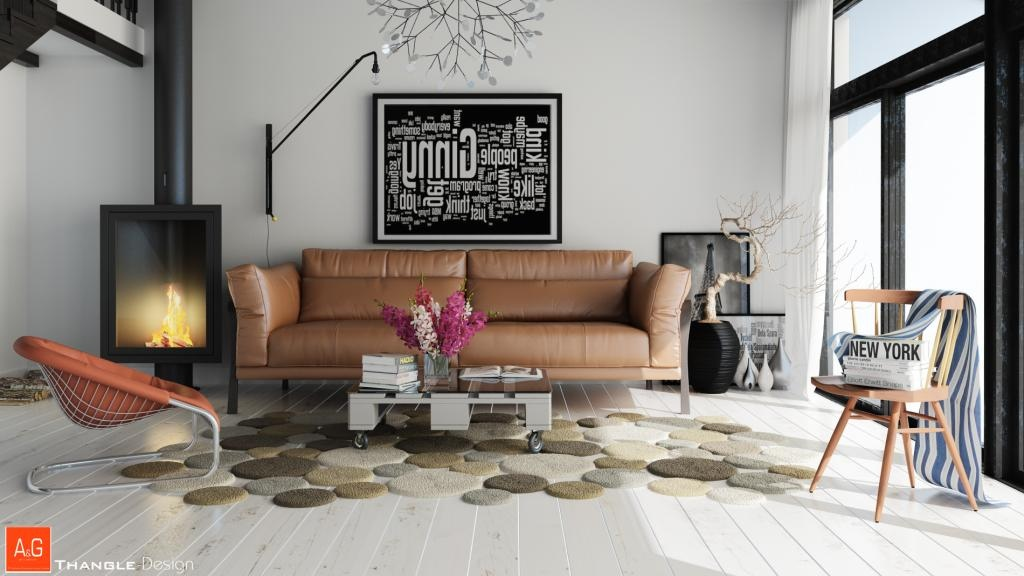 15 beautiful living rooms that we came across recently for Living room rug ideas