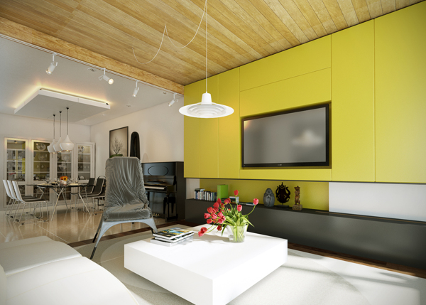yellow modern decor 1