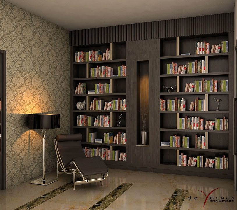 Beautiful reading corners visualized for Small reading room design ideas