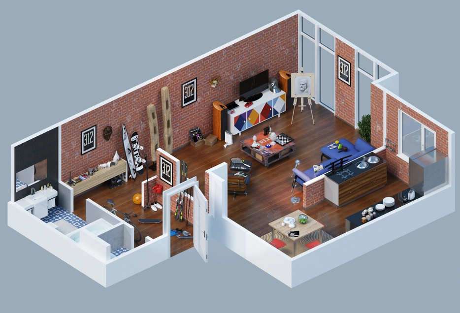 Apartment Building Design Ideas apartment designs shown with rendered 3d floor plans