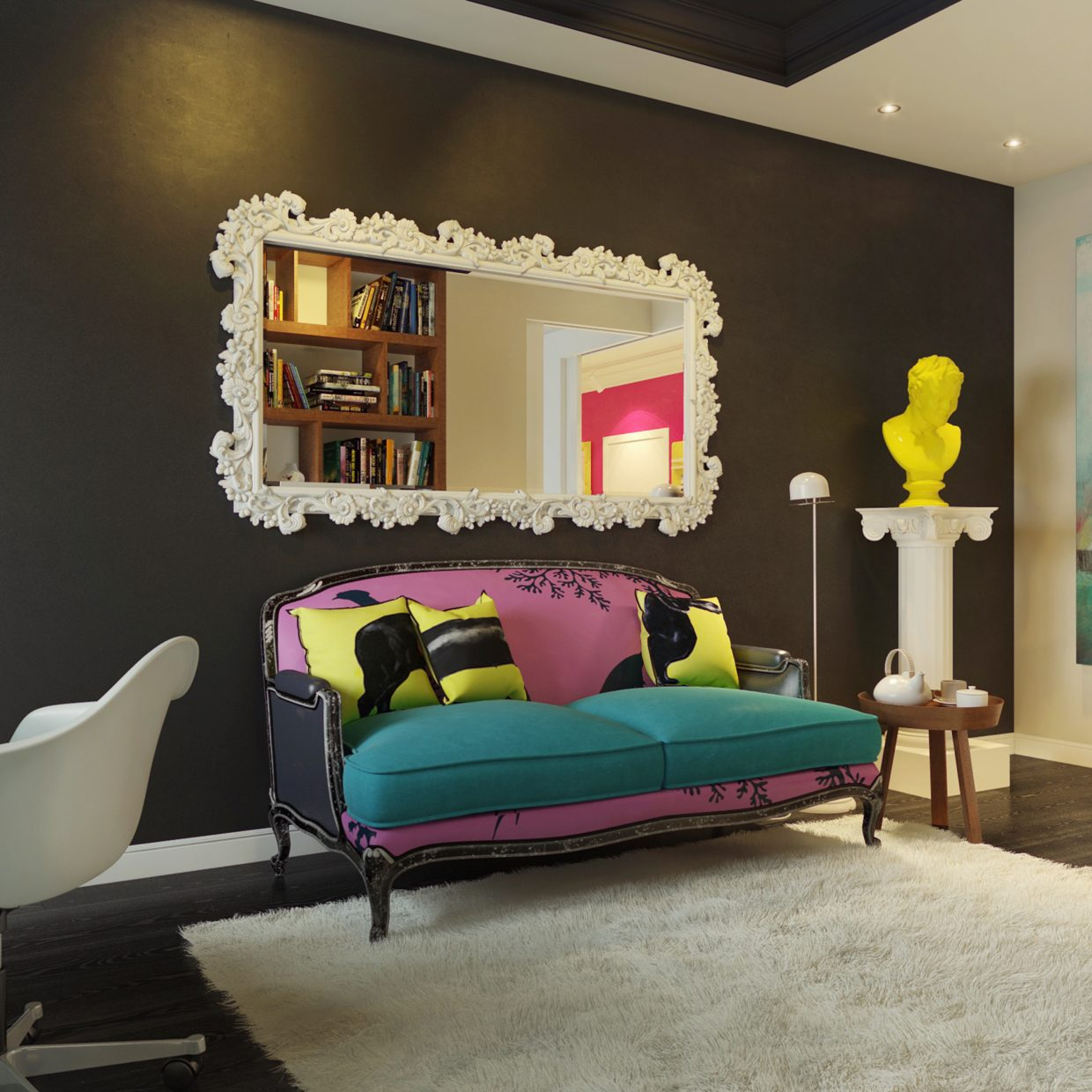 modern pop art style apartment - Interior Design On Wall At Home
