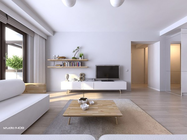 clean white apartment design