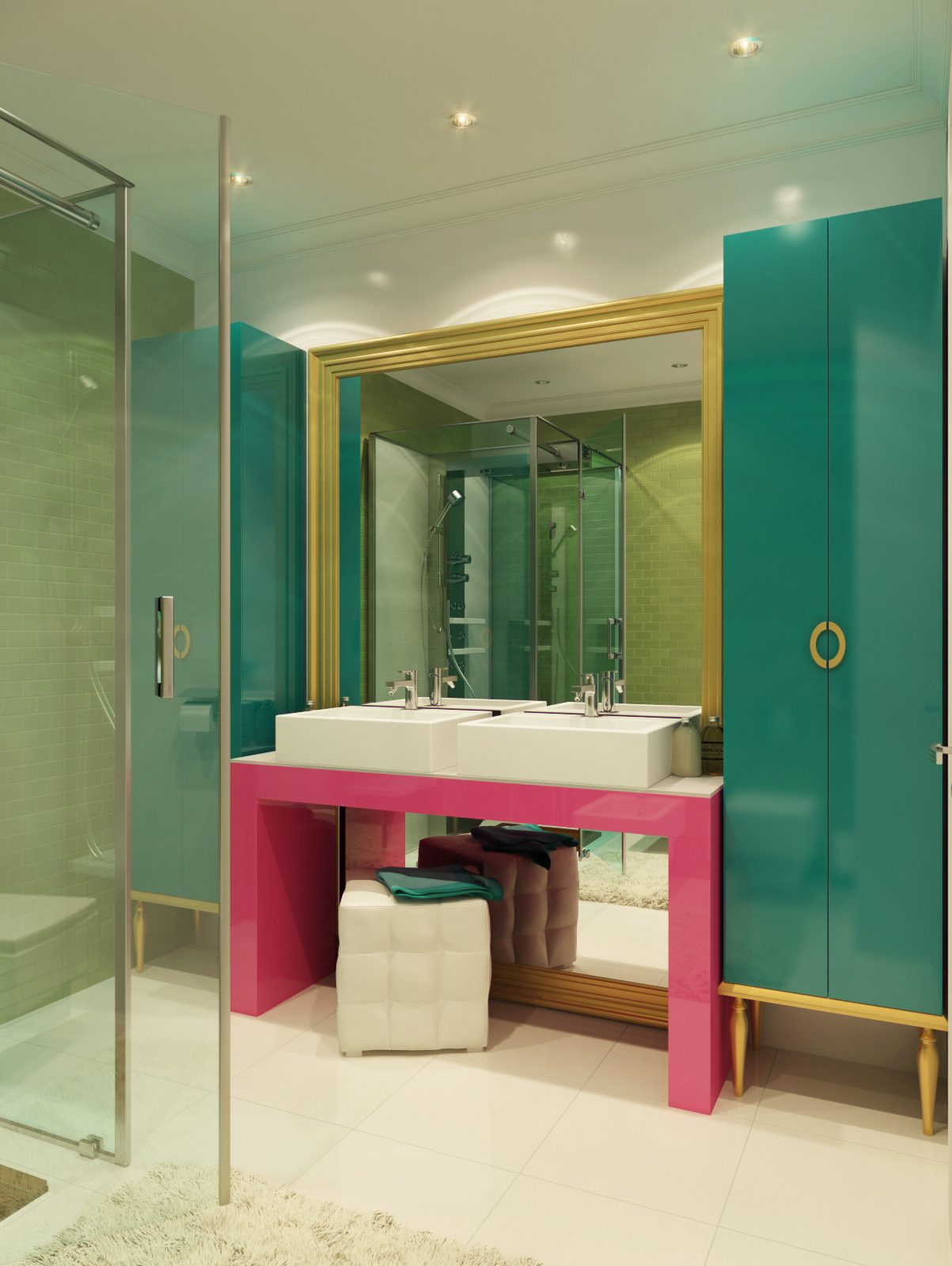 Colorful bathroom decoration - Colorful Bathroom Decoration 6