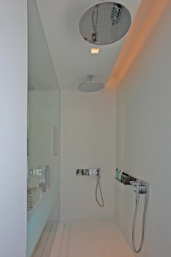 double shower head